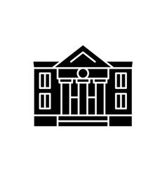 administrative building black icon sign on vector image