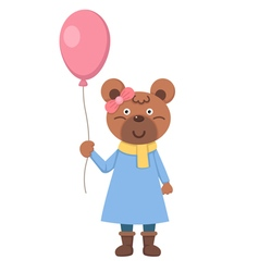 bear with balloon vector image