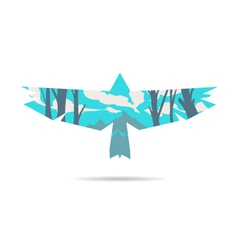 Bird abstract isolated vector