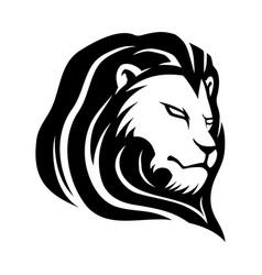 Black lion sign vector