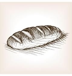Bread sketch style vector image vector image