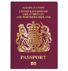 British passport vector