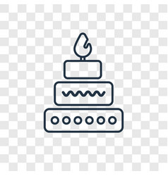 Cake concept linear icon isolated on transparent vector