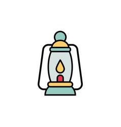 camp lamp flat icon sign symbol vector image