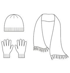 Cap gloves scarf vector