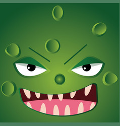 cartoon monster face vector image