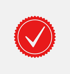 check mark stamp 7 vector image
