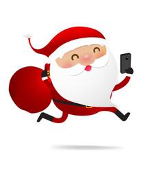 christmas character santa claus cartoon with vector image