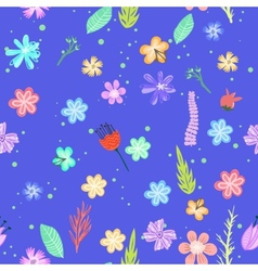Colorful flowers seamless pattern vector image