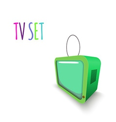 Colorful Retro Tvset isolated vector