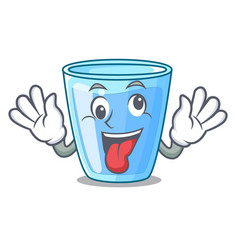 Crazy glass of mineral water on cartoon vector