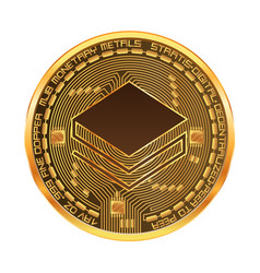 Crypto currency stratis golden symbol vector