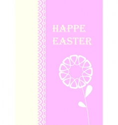 Easter card with flowers vector