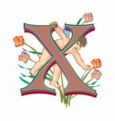 fairytale letter x vector image
