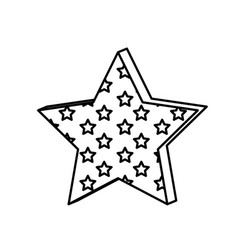 figure star with many stars inside icon vector image