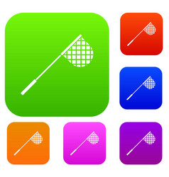 fishing net set collection vector image