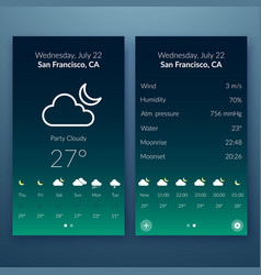 flat user interface concept vector image