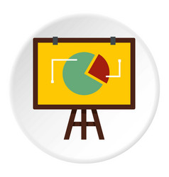 flip chart with statistics icon circle vector image