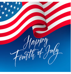 fourth july celebration banner greeting card vector image