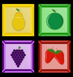 fruit in a photo frame vector image