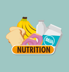 Group of nutritive food icons vector