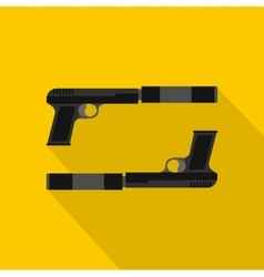Gun icon flat style vector