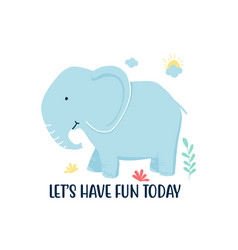 hand drawing elephant vector image