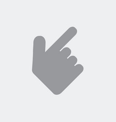 hand showing the number two vector image