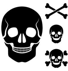 human skull cross bones symbol vector image