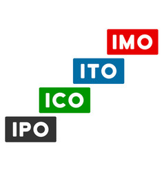 Imo levels flat icon vector