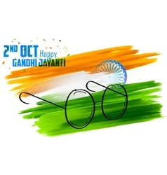 India background for Gandhi Jayanti vector image