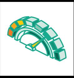 isometric credit score icon outline symbol vector image