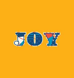 Joy concept word art vector