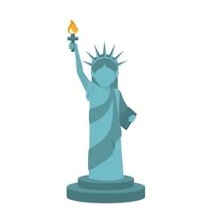 liberty statue usa vector image