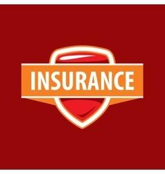 Logo template for an insurance company vector