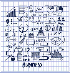 lot of business templates vector image