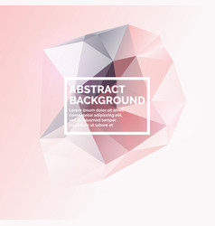 low poly design abstract polygonal object in the vector image