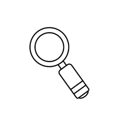 Magnifying glass lupe vector image