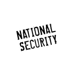 national security rubber stamp vector image