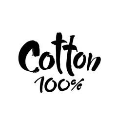 Natural organic cotton label sticker logo vector