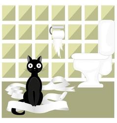 Naughty cat vector
