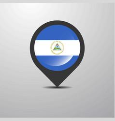 nicaragua map pin vector image