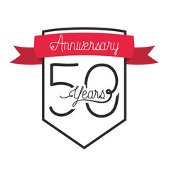 Number 50 for anniversary celebration card icon vector