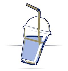 Plastic drink cup vector