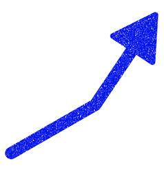 Positive trend arrow grunge icon vector