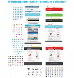 premium web collection vector image