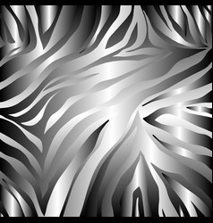 print zebra ornament seamless pattern vector image