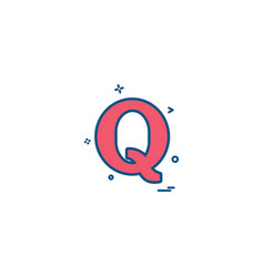 quora icon design vector image