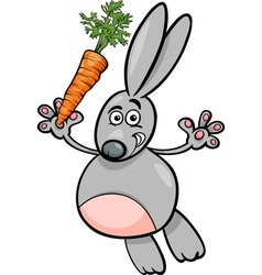 Rabbit with carrot cartoon vector