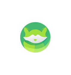 Raccoon logo design vector